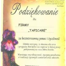 Podziękowanie od Przedszkole Miejskie nr 56 w Sosnowcu