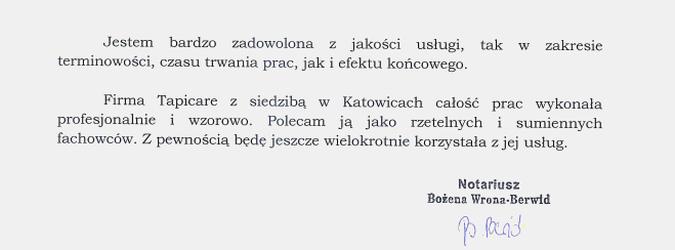 referencja - notariusz
